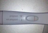 White line on first response test right away | BabyandBump